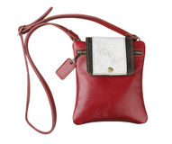 Cute and pretty maroon woman wallet Stock Images