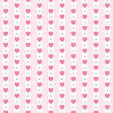 Cute primitive retro seamless pattern with small hearts on striped background. For your decoration vector illustration