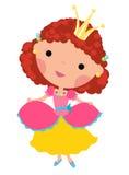 Cute princess. Illustration of a cute princess Stock Photography