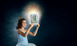 She is cute princess Royalty Free Stock Image