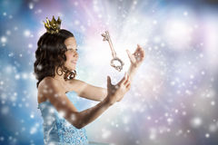 She is cute princess Royalty Free Stock Images