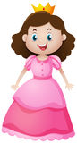 Cute princess in pink dress. Illustration royalty free illustration