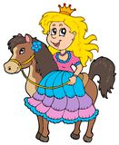 Cute princess riding horse Royalty Free Stock Photos