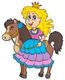 Cute princess riding horse. Illustration Royalty Free Stock Photos