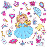 Cute princess set Royalty Free Stock Image