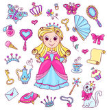 Cute princess set Stock Image