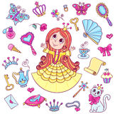 Cute princess set Royalty Free Stock Photo