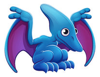 Cute Pterodactyl Cartoon Flying Dinosaur Royalty Free Stock Photography