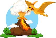 Cute pterodactyl cartoon Royalty Free Stock Photos