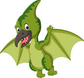 Cute pterodactyl cartoon. Illustration of Cute pterodactyl cartoon Stock Photo