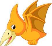 Cute pterodactyl cartoon. Illustration of cute pterodactyl cartoon Royalty Free Stock Photo