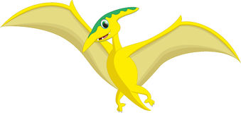Cute pterodactyl cartoon Royalty Free Stock Photography