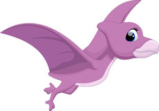 Cute pterodactyl cartoon Royalty Free Stock Photography