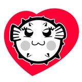 Cute puffer cartoon Stock Photo