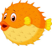 Cute Puffer Fish Cartoon Royalty Free Stock Images