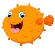 Cute Puffer Fish Cartoon Royalty Free Stock Photos