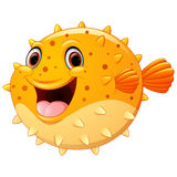 Cute Puffer Fish Cartoon Stock Images