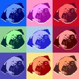 Pug Puppy Dog PopArt Vector Royalty Free Stock Photos