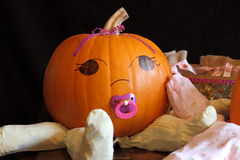 Cute Pumpkin Baby Royalty Free Stock Photography