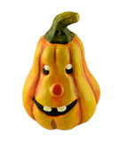 Cute pumpkin face. Photo of a pumpkin with a funny face vector illustration