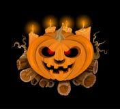 Cute pumpkin Halloween scene Stock Image