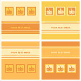 Cute pumpkins cards Royalty Free Stock Photography