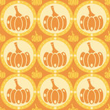 Cute pumpkins pattern Stock Photos