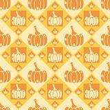 Cute pumpkins pattern Royalty Free Stock Photos