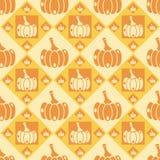 Cute pumpkins pattern Royalty Free Stock Photos