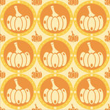 Cute pumpkins pattern Stock Photos