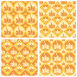 Cute pumpkins patterns Stock Photo