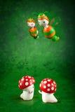 Cute puppets handmade Stock Image