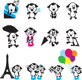 Cute puppies dog characters Royalty Free Stock Photos