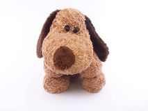 Cute puppy. Toy for children Royalty Free Stock Photos