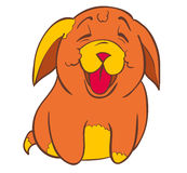 Cute puppy. Smiley cute puppy. Isolated illustration Royalty Free Stock Photography
