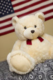 Cute Puppy Bear with USA flag Stock Image