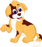 Cute puppy cartoon sitting Royalty Free Stock Image
