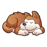 Cute puppy cartoon sleeping Stock Images