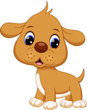 Cute puppy cartoon Stock Images