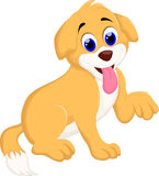 Cute puppy cartoon for you design Royalty Free Stock Photography