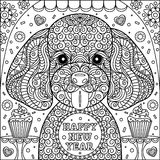 Cute puppy coloring page Royalty Free Stock Images