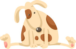 Cute puppy dog cartoon illustration Royalty Free Stock Image