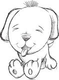 Cute Puppy Dog Doodle Sketch Vector Royalty Free Stock Images
