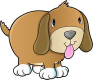 Cute Puppy Dog Illustration Stock Photos