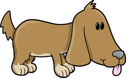 Cute Puppy Dog Vector. Illustration Royalty Free Stock Photography