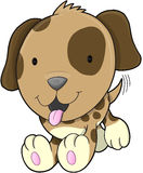 Cute Puppy Dog Vector Stock Image
