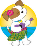 Cute Puppy Hawaii royalty free illustration