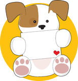 Cute Puppy Letter Royalty Free Stock Photography