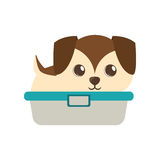 Cute puppy little brown bathtub Royalty Free Stock Photo
