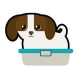 Cute puppy little canine adorable bathtub Royalty Free Stock Photos